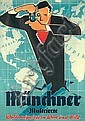 Original 1950s Munich Illustrated News Magazine Poster