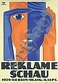 RARE Original 1920s BERNHARD ROSEN Reklameschau Poster