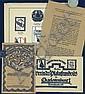 4 Original 1910s/20s Printed Matter Poster Ephemera