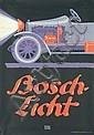 RARE ORIGINAL 1913 Lucian Bernhard BOSCH LICHT Poster, Lucian Bernhard, Click for value