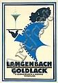 RARE 1920s Art Deco ORIG Poster Maquette Black Waiter