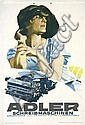 Small Original 1920s HOHLWEIN Cardboard Display ADLER