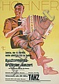 Original 1950s Hohner Harmonica Instrument Poster
