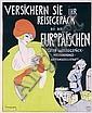 Original 1920s WALTER SCHNACKENBERG Travel Poster