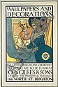 Original 1915 Wallpaper Art Deco Poster Plakat LEIGH