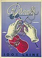 Great Original 1950s VILLEMOT Wool Poster Affiche