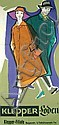 Original 1950s Klepper Clothing Poster Plakat