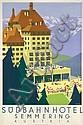 Original 1930s KOSEL Austria Hotel Travel Poster Semmering