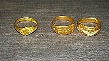 Three Hi-Karat Rings.