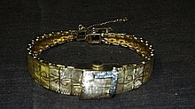 14 kt Yellow Gold and Diamond Ladies Wristwatch.