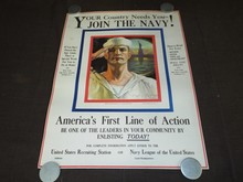 WW1 Poster, Join the Navy, Rolf Armstrong