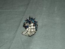 Diamond and Sapphire Cluster Ring.