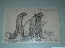 Ernst Barlach  (1870 - 1938) Pencil Illustration.