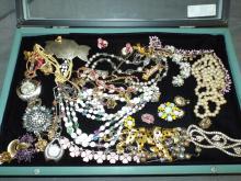 Costume Jewelry Tray Lot.