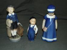 (3) Royal Copenhagen /B & G Denmark Figurines.