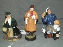 Royal Doulton Figurines. Lot of 3