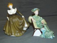 Royal Doulton Porcelain Figurines. Lot of 2.