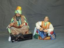 (2) Royal Doulton Figurines.The Tailor/ The Cobler