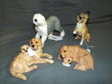 Royal Doulton Porcelain Figural Dogs. Lot of  4