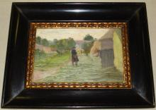 Hungarian Oil on Board. Unknown.