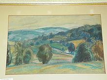 Bernard Gussow, Pastel on Paper Landscape