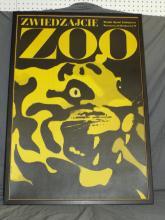 1960's Polish Zoo Poster, Waldemar Swierzy