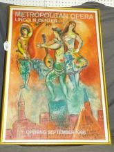 Chagall 1966 Metropolitan Opera Poster