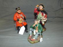 Royal Doulton Figurines. Lot of 3.