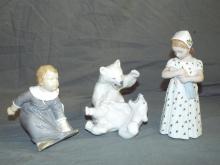 Royal Coenhagenn/B & G Figurines. Lot of 3.