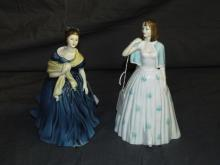 (2) Doulton Figurines. Angela and Adrienne.
