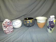 Quality Vases/Planters. Lot of  5