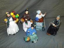Royal Doulton Figurines. Lot of 5