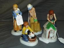 Royal Doulton Figurines. Childhood Days. Lot of 4.