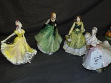 Royal Doulton Figurines.  Lot of 4