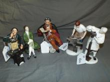 Royal Doulton Figurines.  Lot of 5.