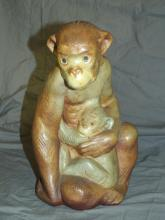 Lladro Figural Grouping. Mama Monkey with Child.