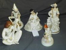 Royal Doulton Figurines. Enchantment. Lot of 5.