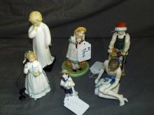 Royal Doulton Figurines. Lot of 6