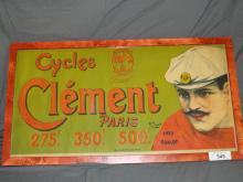 Early French Bicycle Poster, Cycles Clement