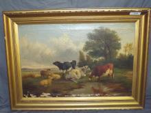 19th Century Oil on Canvas.