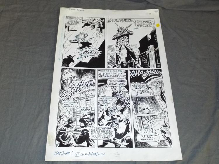 Dick Ayers Ghost Rider Page.