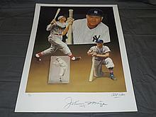 Johnny Mize Hand Signed Ltd Ed Lithograph