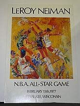 1977 LeRoy Neiman NBA All Star Game Signed Poster
