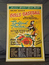 Rockford Peaches Signed Girls Baseball Poster