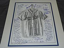 Brooklyn Dodgers Multi Signed Litho, Tinkleman