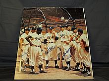 Autographed Brooklyn Dodgers Photo