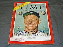 1953 Time Magazine Signed Mickey Mantle Cover