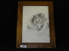 Moses Soyer Signed Pencil Illustration