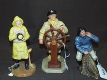 3 Royal Doulton Porcelain Figurines.