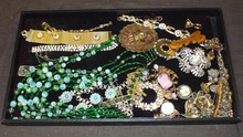 Tray Lot. Costume Jewelry.